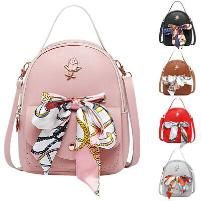 Women Small Backpack PU Leather Shoulder Bag Ladies Girls Handbag Travel Bag AU