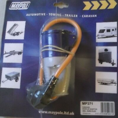 Maypole Trailer Caravan Hook-Up Adaptor 230v Euro Plug New