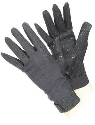 Shires Aubrion Lightweight Riding Gloves in Black, Adults