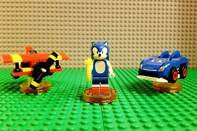 LEGO Dimensions Sonic the Hedgehog Level Pack 71244 Sonic Mini-Figures Tested!