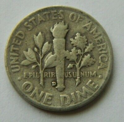 USA one Dime 1952 D Roosevelt Silver