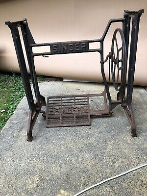ANTIQUE SINGER TREADLE SEWING MACHINE BASE Original Early Piece 1900's