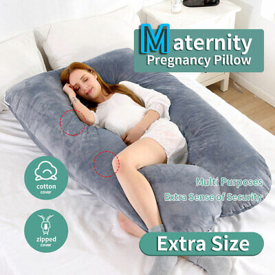 Maternity Pregnancy Woman U Boyfriend Pillow Nursing Sleeping Support 140x80cm