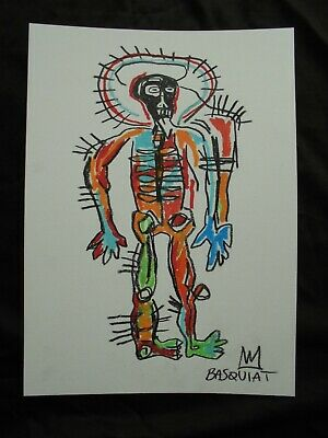 JEAN MICHEL BASQUIAT  DRAWING ON PAPER - DESSIN - painting -