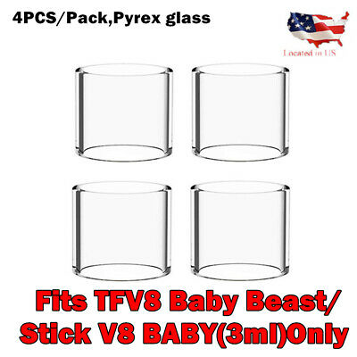 4Pcs/pack Clear V8 Baby Replacement 3ml Glass for baby - Fast Shipping