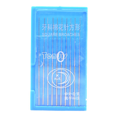 1box 0# Dental Stainless Steel Endodontic Square Broaches Needles 54mm
