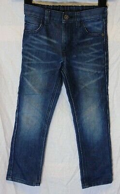 Boys Next Blue Whiskered Denim Adjustable Waist Regular Fit Jeans Age 5 Years