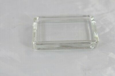 Antique/Vintage Heavy Glass Bar Soap Holder Soap Dish Leaded? Glass