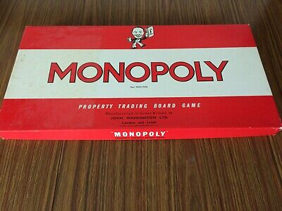 Vintage Monopoly Game 1961 Excellent condition Family Board retro Christmas Gift