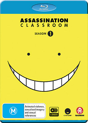 Assassination Classroom Complete Season 1 (Blu-Ray) Blu-Ray New