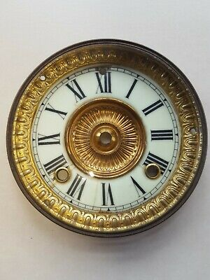 Ansonia Clock Dial Brass Bezel with Bevelled Glass Circa 1890
