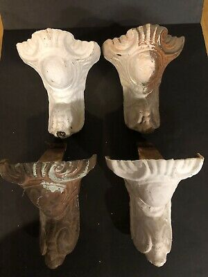 Antique Vintage Cast Iron Claw Foot Bathtub Tub Feet Legs Set Of 4 Painted