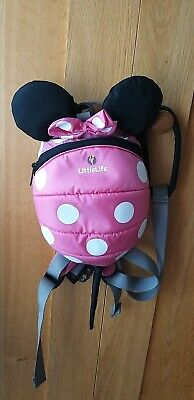 Little Life Backpack With Reins - Pink - Minnie Mouse - Excellent Condition