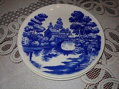 set of 2 ,9 Inch Plate Nasco Lakeview Japan Hand Painted Vintage