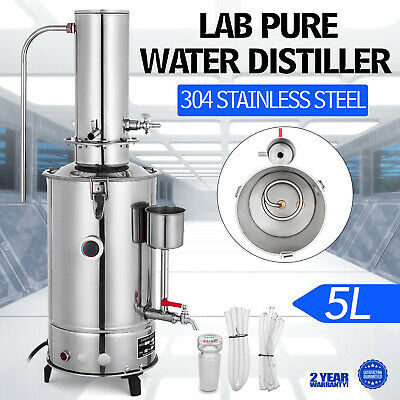 5L/H Lab Pure Water Distiller Stainless Steel 380V Medical Laboratory