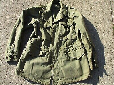 Original US Army WWII Model 1943 Field Jacket, Size 38 L, Excellent Condition