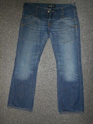 Ladies Firetrap Black Seal Cropped Jeans W 30 BNWT