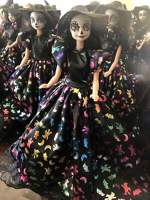 Barbie Style Doll Catrina Sugar Skull Day Of The Dead Halloween