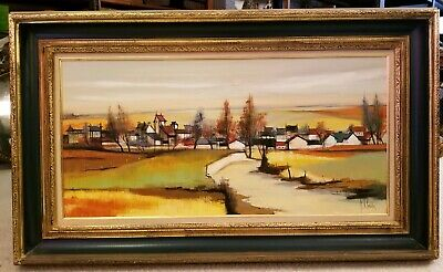 F. CLAUDE Mid 20th Century Painting Large