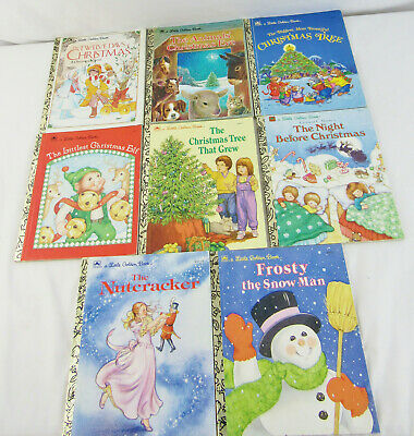 Christmas Little Golden Books Lot of 8 Unsorted Mixed Titles 1983-1991