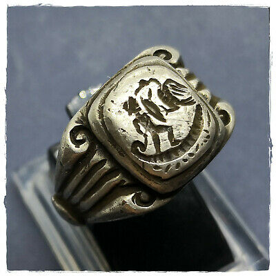 **Eagle attack Soldiers on board** ancient MILITARY LEGIONARY SILVER Roman ring!