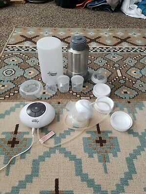 Tommee Tippee Model 1063 Electric Breast Pump With travel thermos