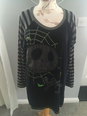 Disney Tim Burtons The Night Before Christmas Long Sleeved Ladies Top Size 14/16