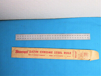 Starret C635-300 300mm Spring-Tempered Steel Rule with Millimeter Graduations