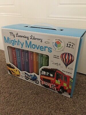 Building Blocks Learning Library Mighty Movers (UK) by Hinkler Books (Book,...