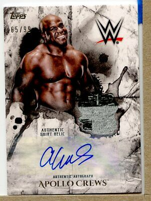 Apollo Crews 2018 Topps WWE Undisputed Relic Autograph /99 BY1137