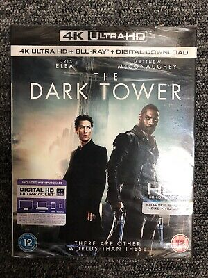 The Dark Tower (4K Ultra HD + Blu-ray +Digital HD) with slipcover New and Sealed