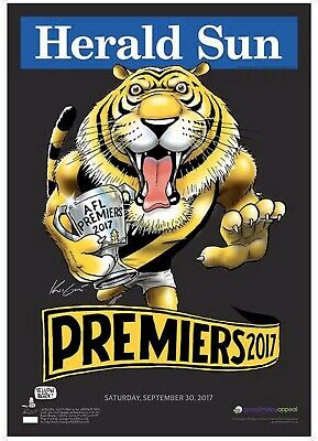 2017 Richmond Black Limited Edition Premiers Premiership Mark Knight Weg Poster
