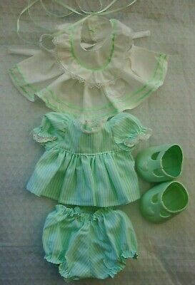 My Child Doll Mint Green  Dress & Pinny - Panties - Ribbons - Shoes (No Doll)