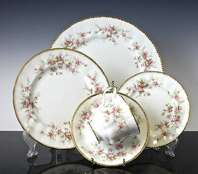 V Nice Paragon Victoriana Rose Pattern Set Of 4 - 5 Piece Place Settings 20 Pcs