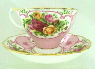 "DR. ""Royal Albert"" Rose Cameo Pink Bone China Tea Cup &Saucer England"