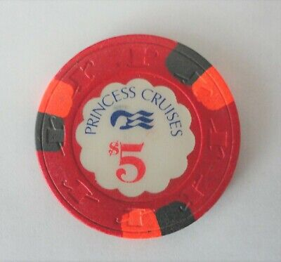 A Five Dollar Casino Chip From Princes Cruise Lines
