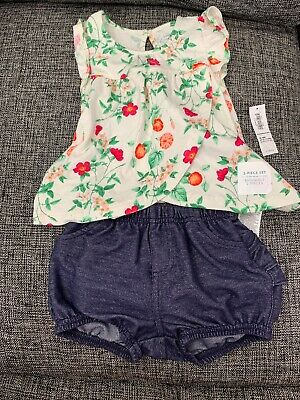 Old Navy Girls 12-18M 2 Piece Floral Outfit NWT