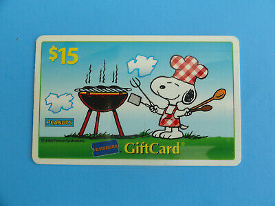 Peanuts Snoopy Blockbuster Video Gift Card - Original 2004 **No Value On Card**