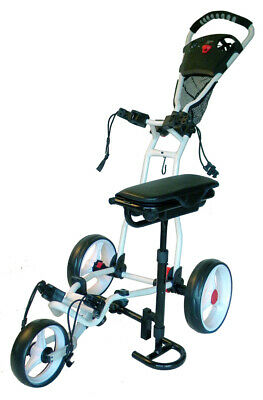 Founders Club 3 Wheel Golf Buggy with Seat Push Pull Golf Cart Trolley