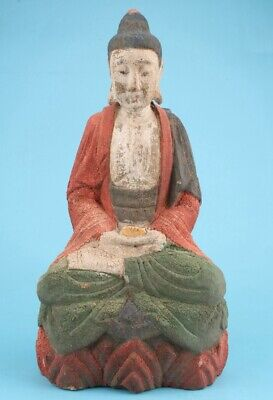 China Wood Hand-Carved Buddha Statues Spiritual High-End Decora Gift Old