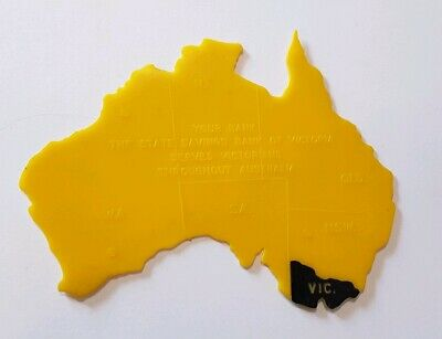 State Savings Bank of Victoria - Map of Australia Stencil - 1970s