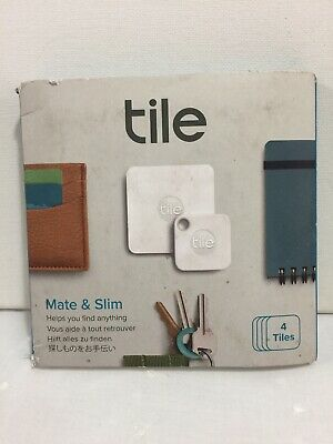 NEW Tile Mate & Slim COMBO Item Trackers 4-Pack FAST FREE SHIPPING