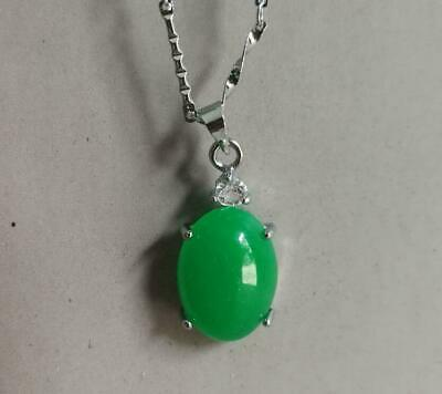 100% natural hand-carved Chinese green jade bead pendant set