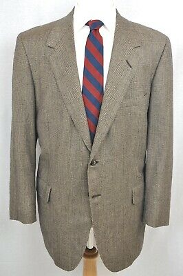 Oxxford Brown Glen Plaid Onwentsia Vintage Ivy Trad Suit Jacket Pants 44L