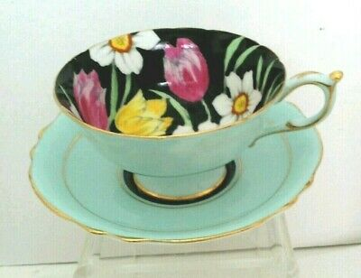 "CO. ""PARAGON"" Bone China Tea Cup and Saucer Made in England"