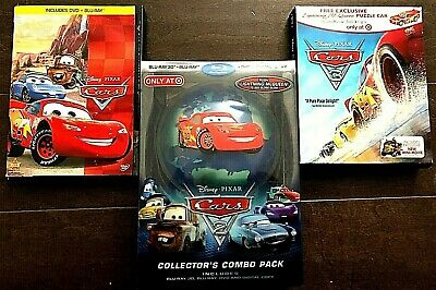 Cars Trilogy 1 2 [3D Blu-ray (Target Exclusive/Collector's Combo Pack)] & 3