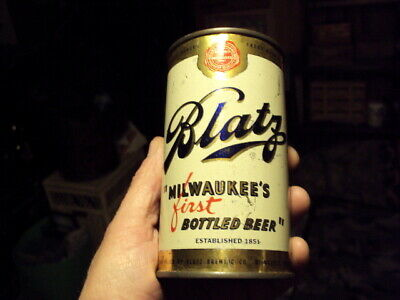 1950s Blatz Flat Top Beer Can First Issue After Cone She's A Beauty Folks! LOOK