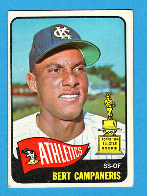 1965 Topps BERT CAMPANERIS Rookie Card #266 KANSAS CITY ATHLETICS RC VG/EX
