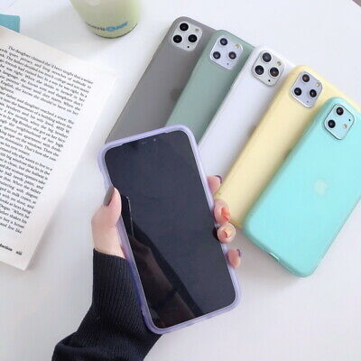 Liquid Silicone Thin Clear Soft Case Cover For iPhone 11 Pro XS Max XR X 8 7 6S+