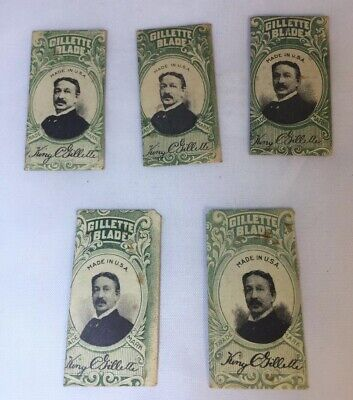 King Gillette Double Edge Safety Razor Blade USA Made • Vintage • Lot of 5